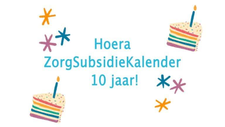ZorgSubsidieKalender 10 jaar