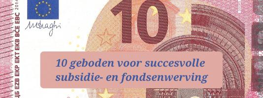 succesvolle subsidie- en fondsenwerving geld